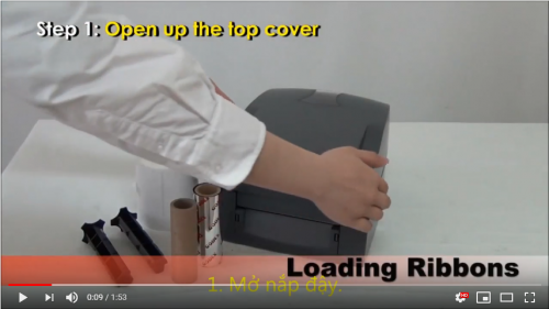 [Video] Hướng dẫn lắp mực máy in mã vạch máy Godez G500