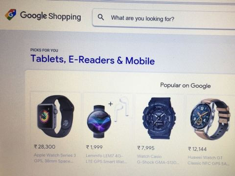 Google Shopping miễn phí danh sách hiển thị sản phẩm